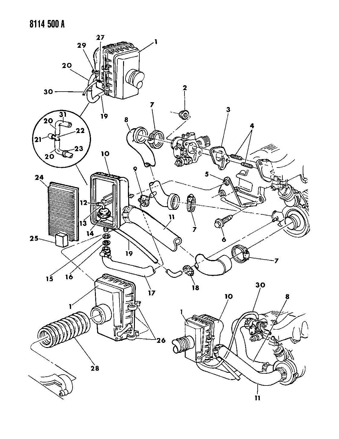 Dodge Durango Latch. Air cleaner. Export. [argentina