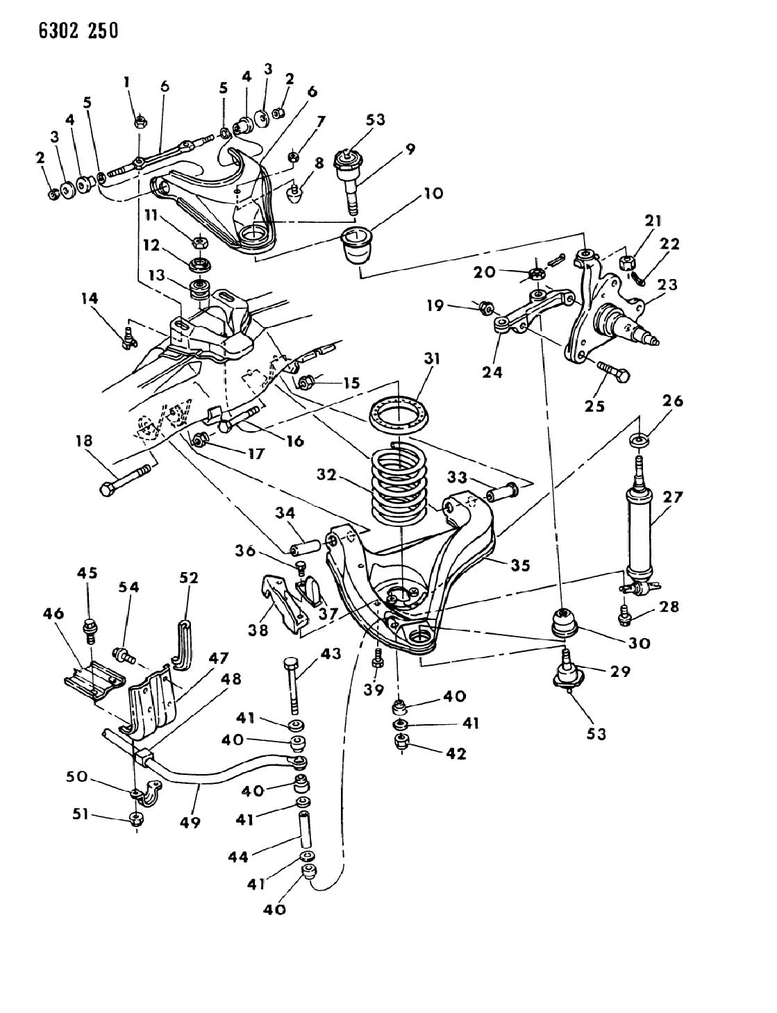 1996 Dodge Isolator, frt. Susp coil spring. 1994
