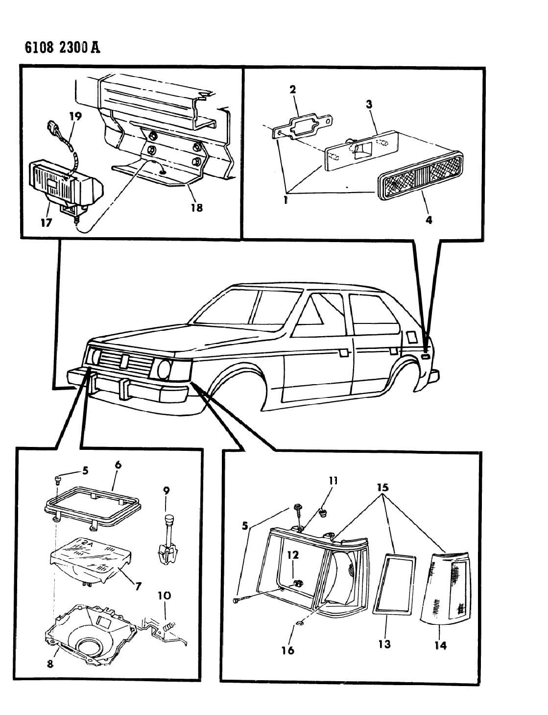 1993 Dodge Nut and screw, nut and screw, h/lamp seat adj