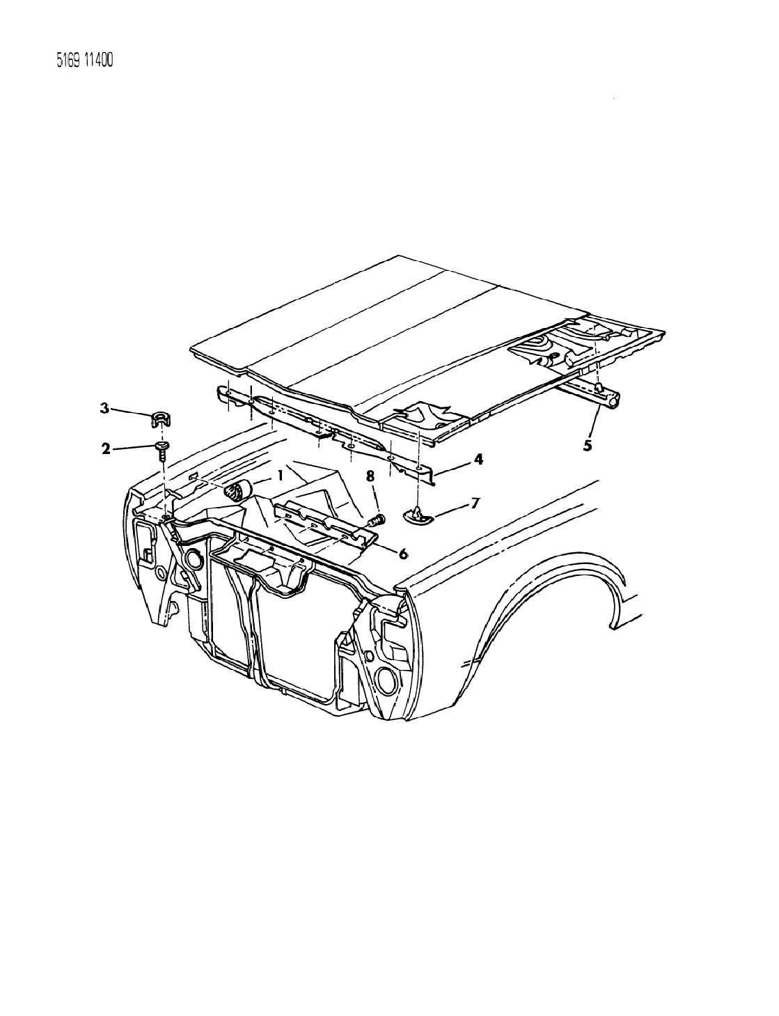 Dodge Ram Retainer Hood Insulation 415x 690 Hood