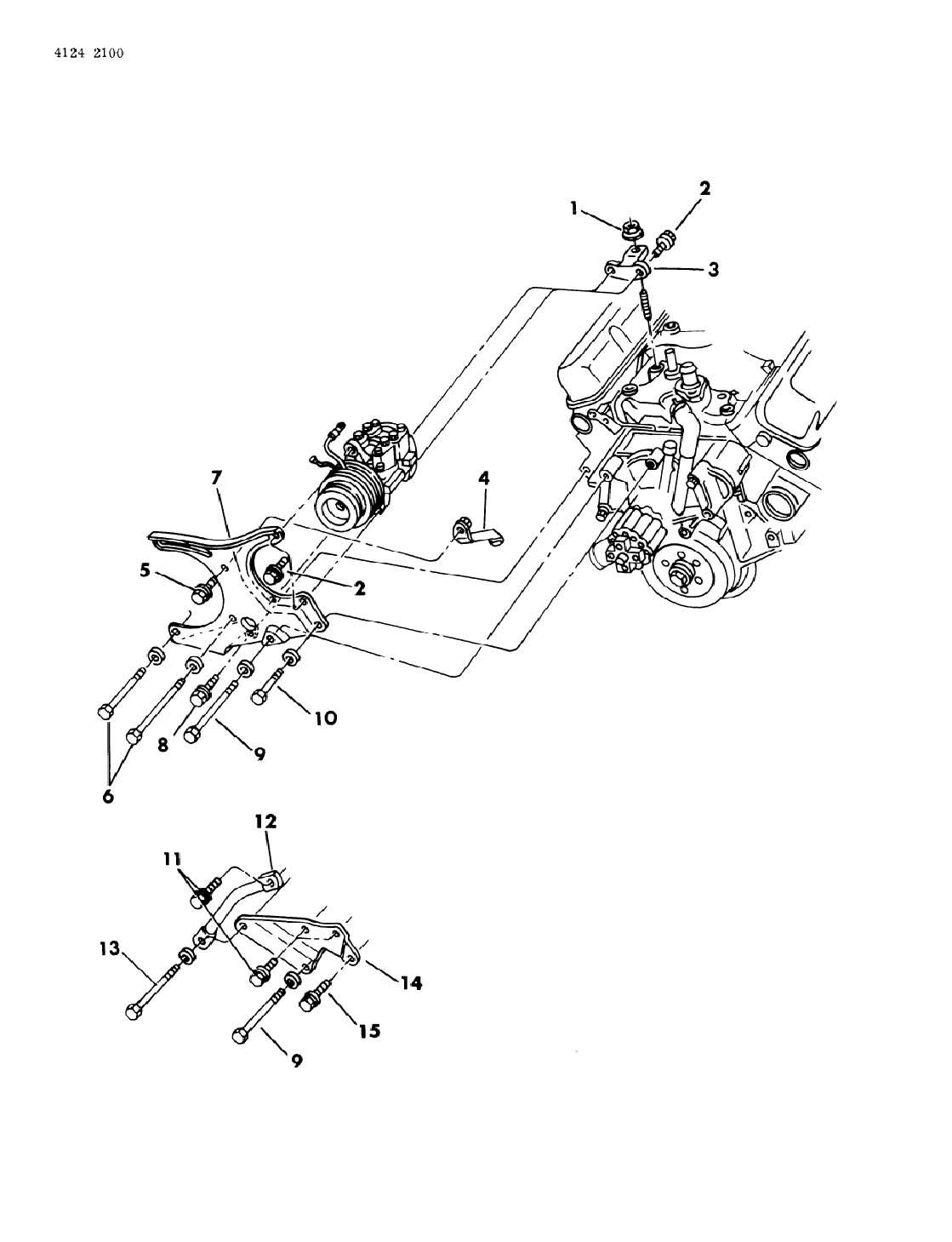 Mounting Air Compressor B F G 318 Engine