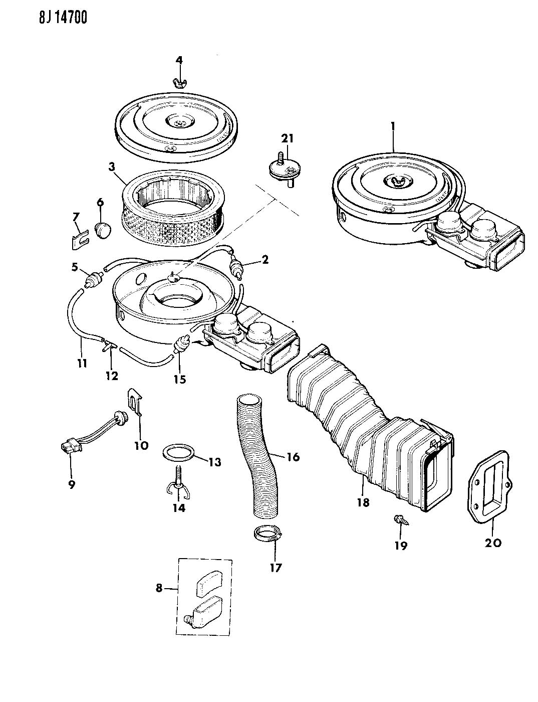 1989 Jeep Switch, thermal vacuum, switch, vacuum. Us