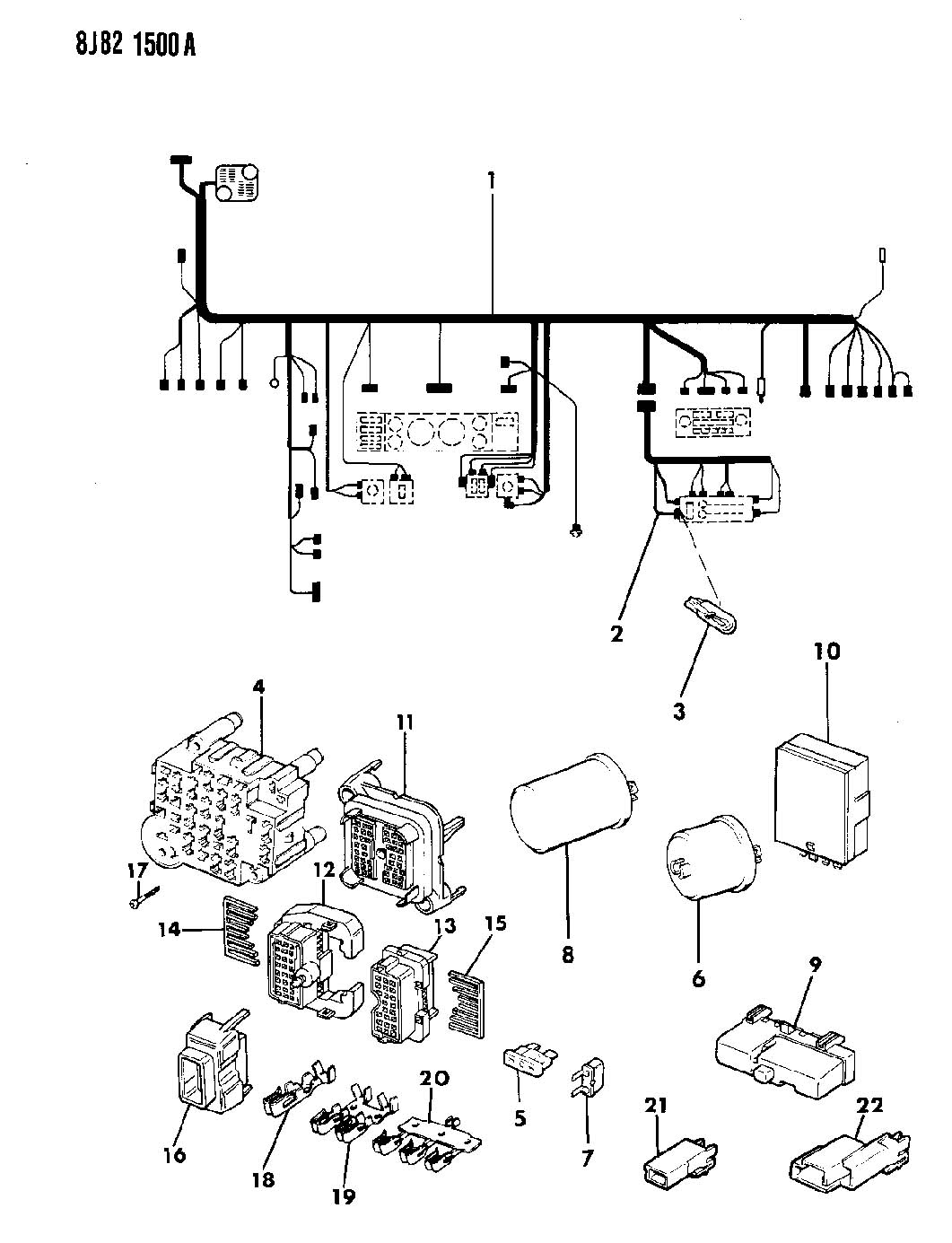 1987 Jeep Cherokee Fuse Box Diagram