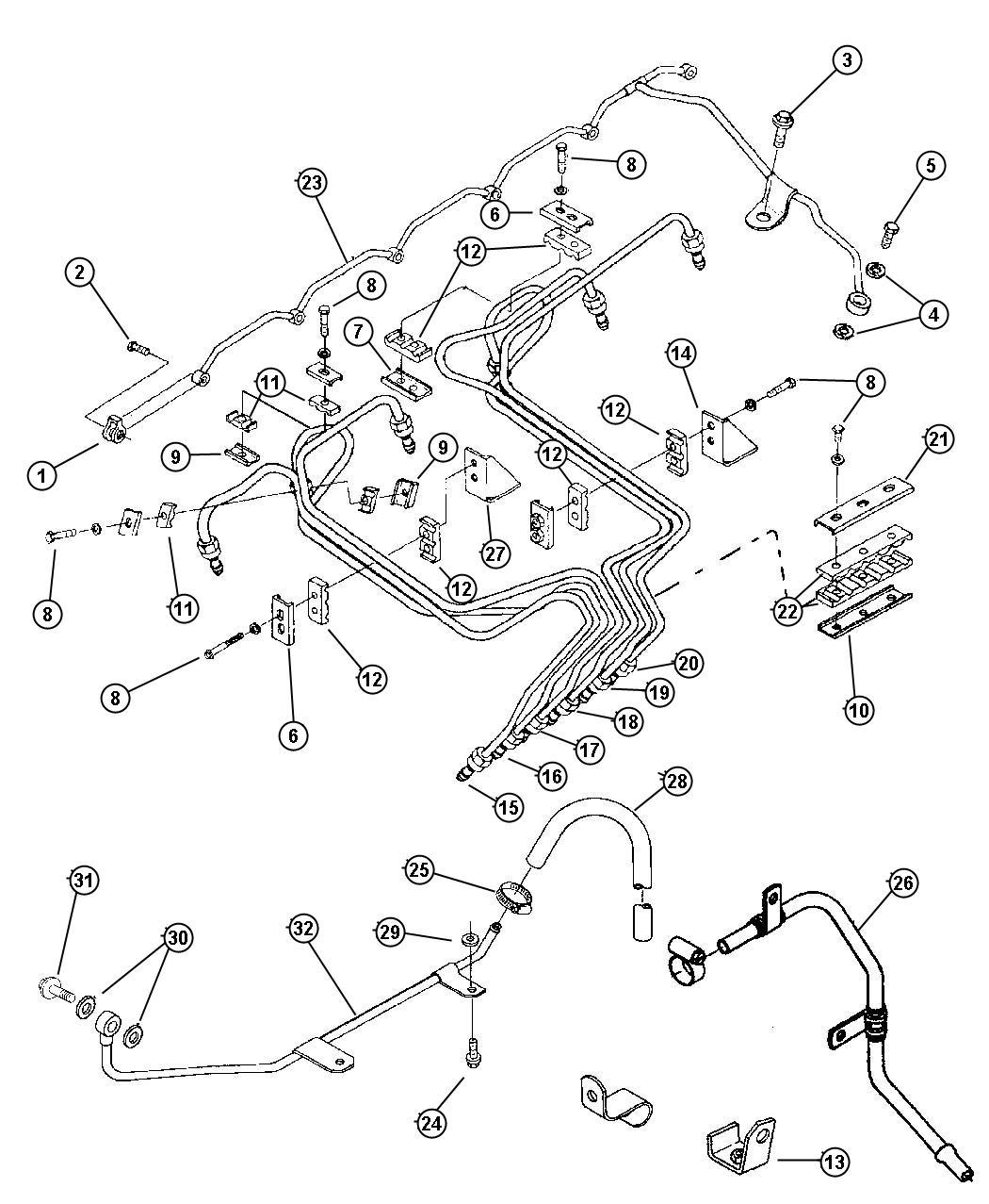 Dodge Ram Tube Fuel Injector Supply 5