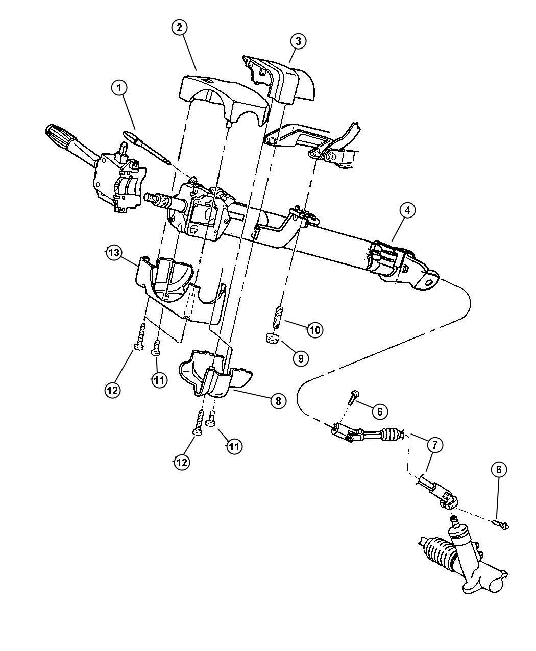 Dodge Dakota Column Steering Non Tilt