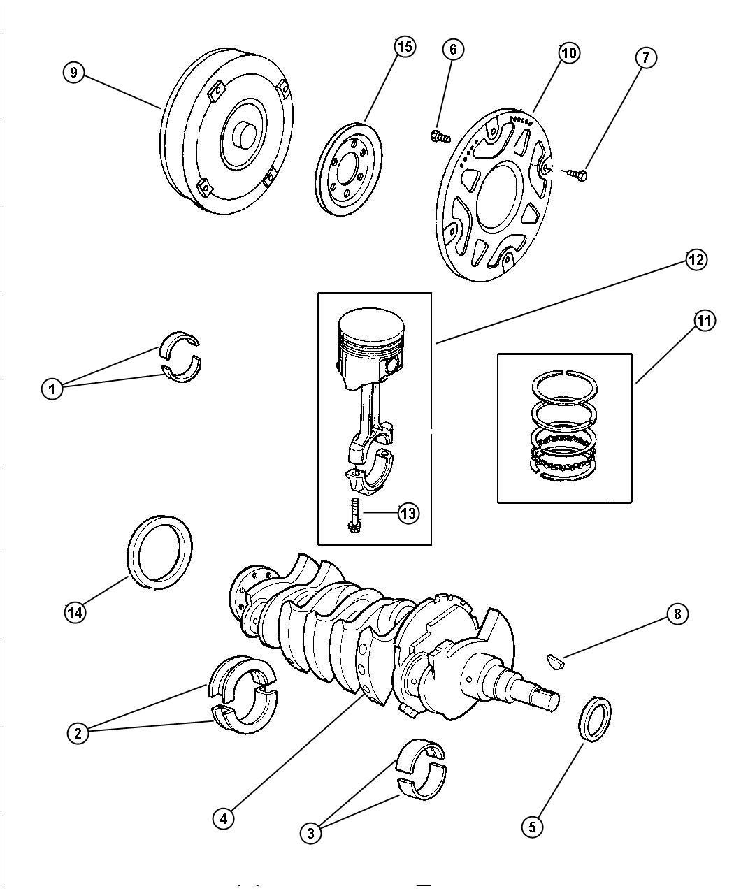Dodge Stratus Seal. Crankshaft oil, front main crankshaft