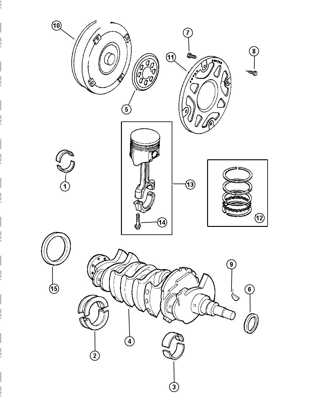 Dodge Avenger Crankshaft Piston And Torque