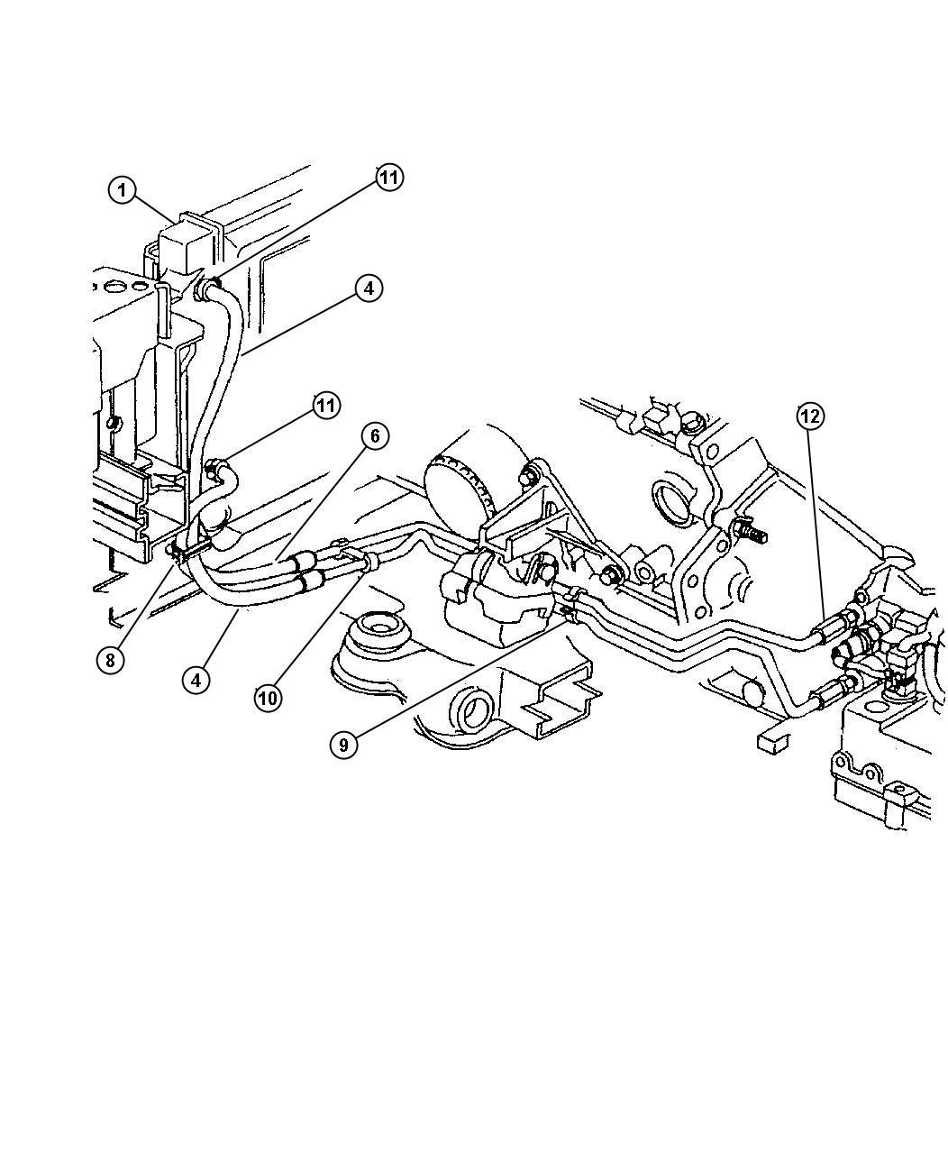 Dodge Intrepid Line. Transmission oil cooler pressure