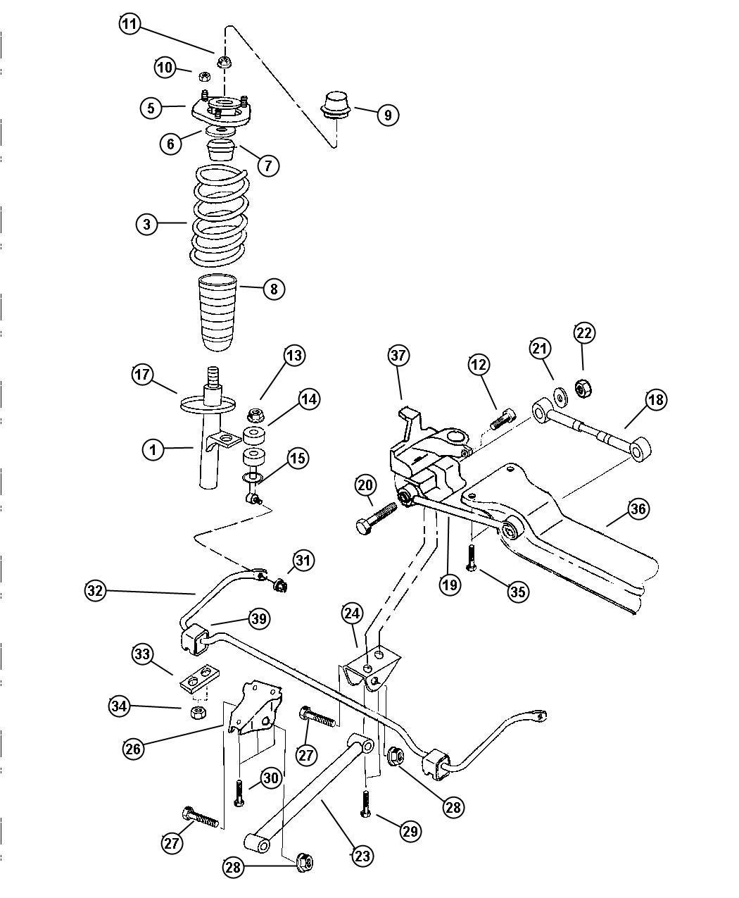1999 chrysler lhs suspension diagrams