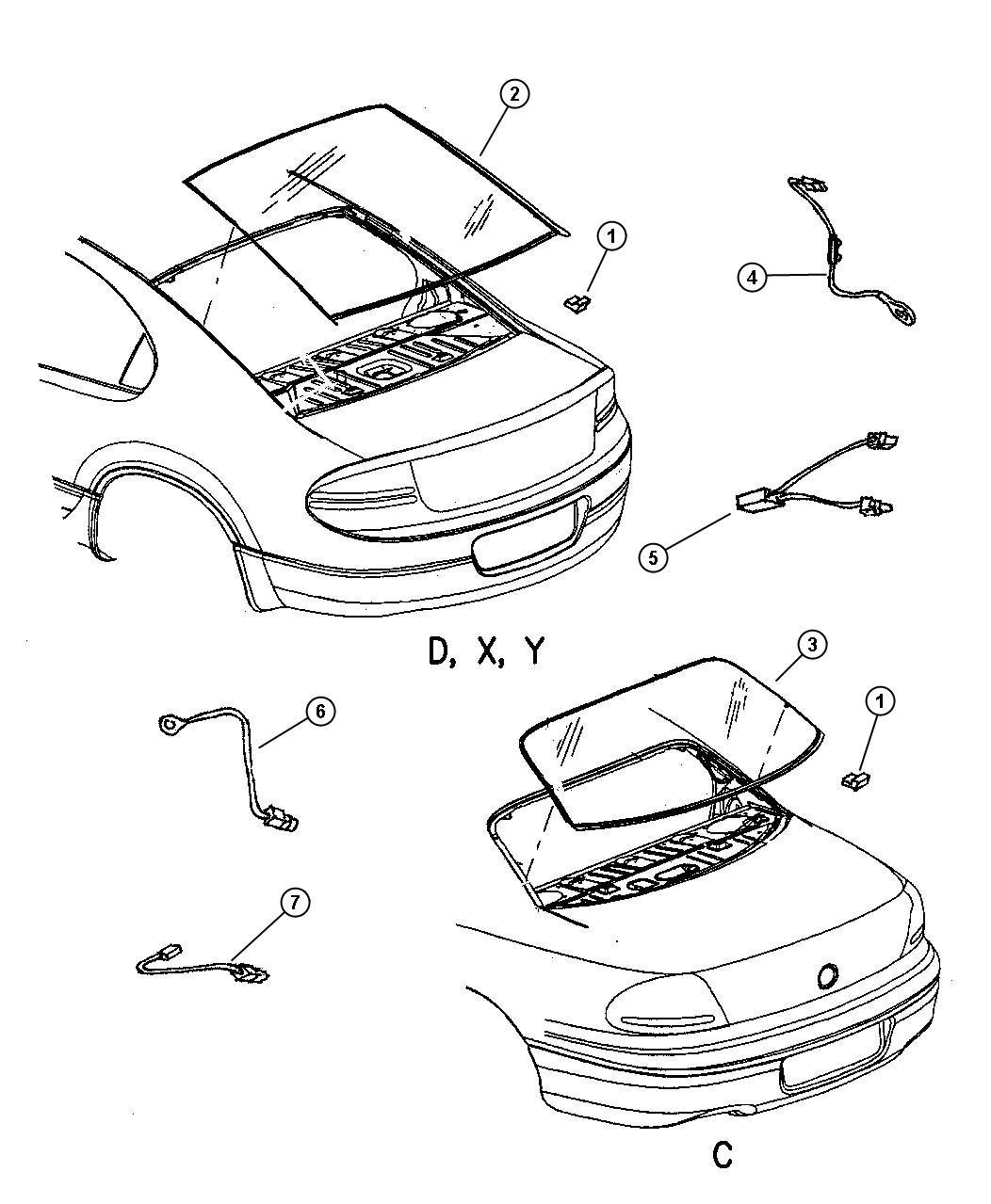 Dodge Intrepid Wiring. Electric backlight ground. Ebl