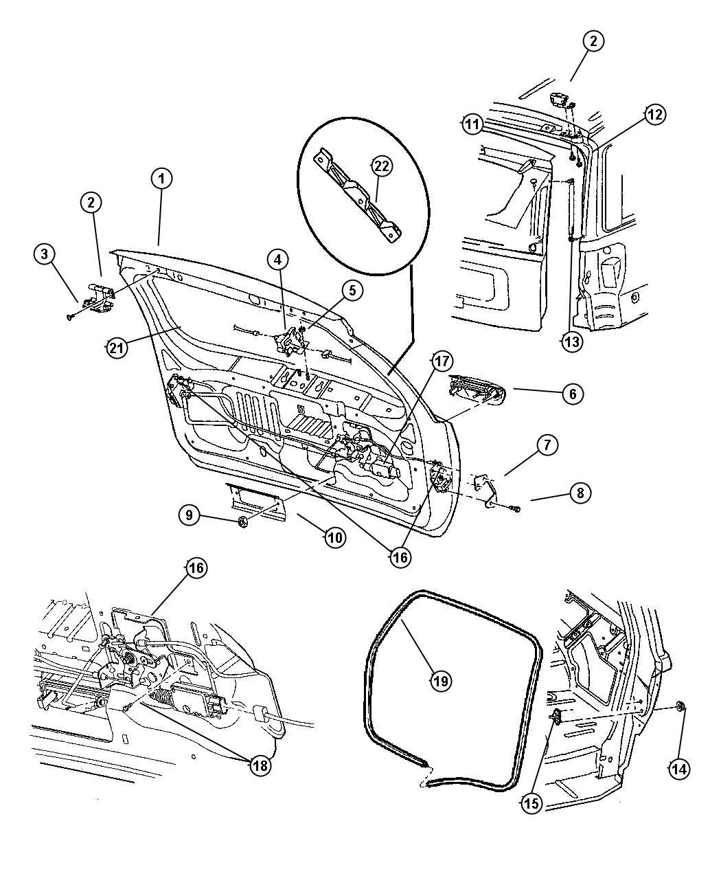Jeep Grand Cherokee Handle. Liftgate. [ul], laredo, [ul