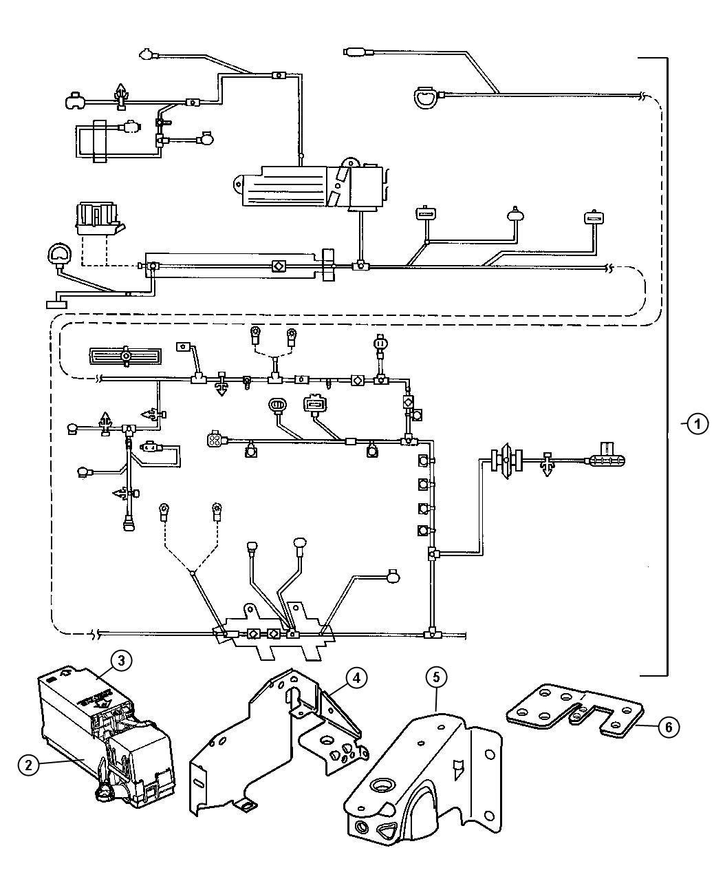 2000 Chrysler Cirrus Wiring-Headlamp to Dash.