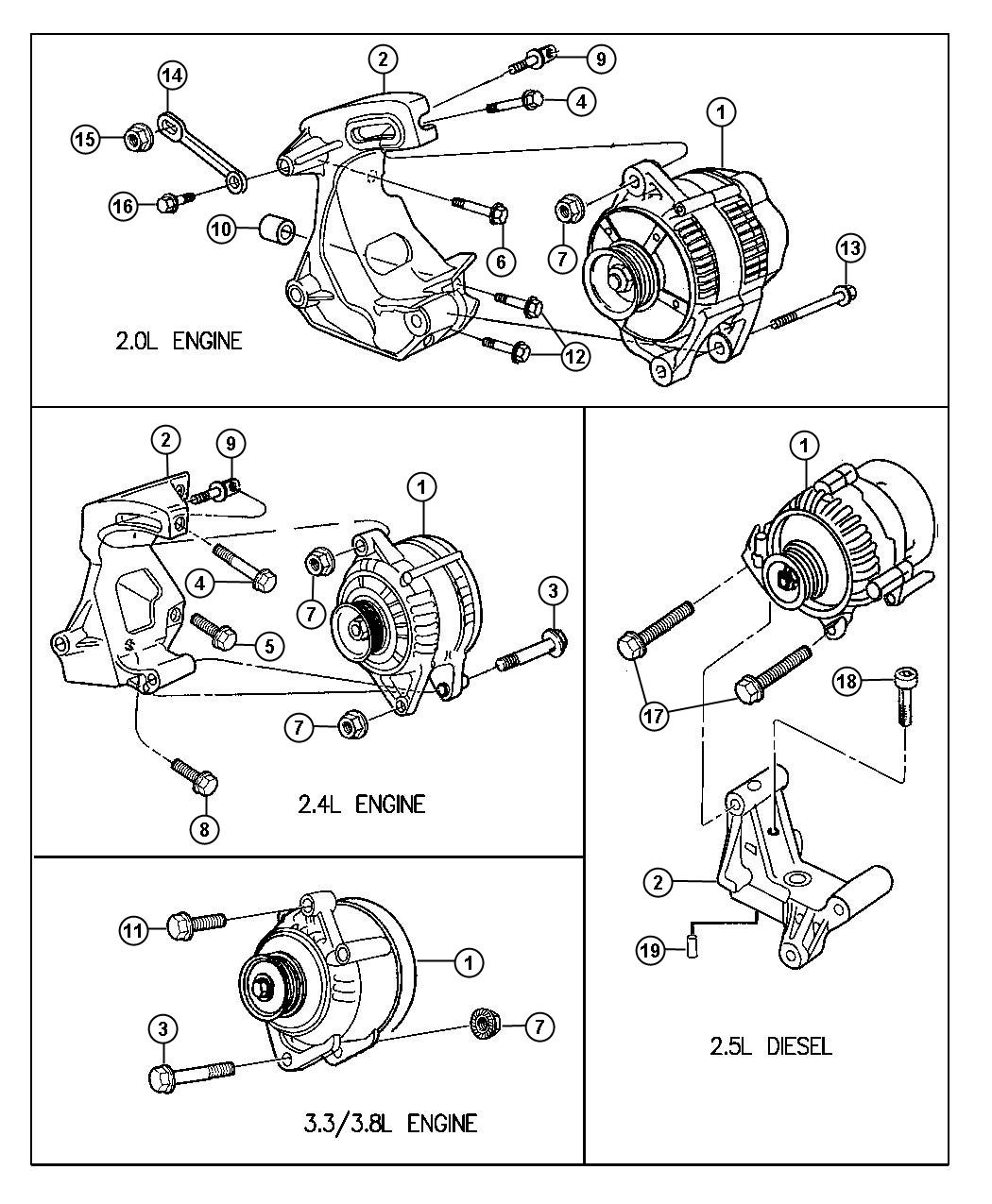 Plymouth Voyager Screw. Hex head. M8x1.25x20. I/p floor