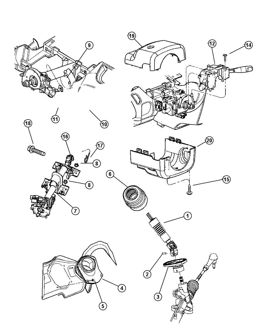 Dodge Neon Column Steering Tilt Sua Abb With Tilt