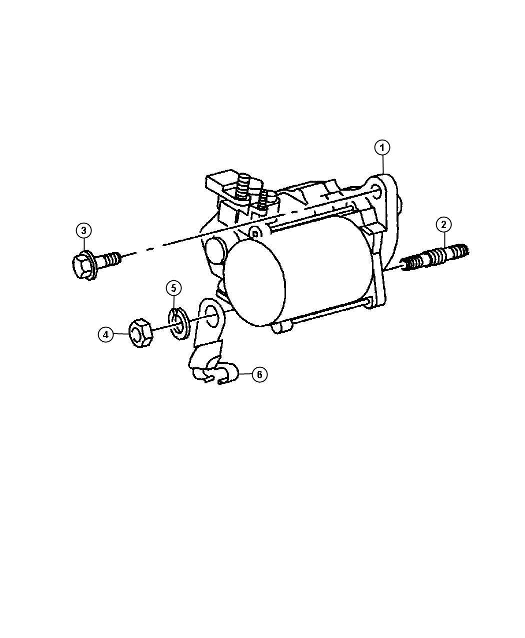 Dodge Dakota Starter Engine