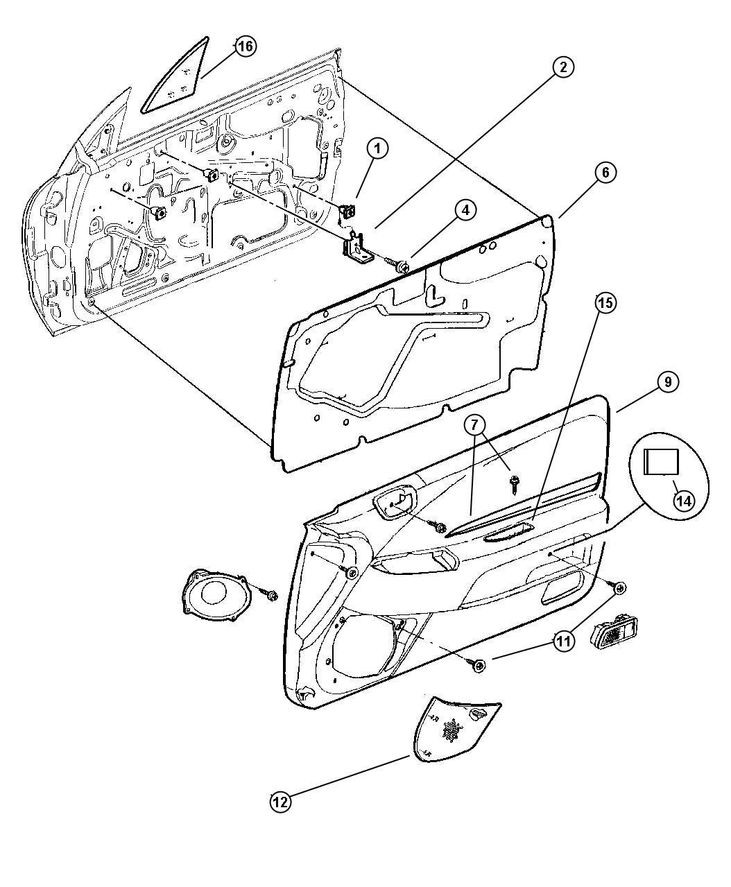1998 Chrysler Sebring JX Convertible 2.5L V6 A/T Grille