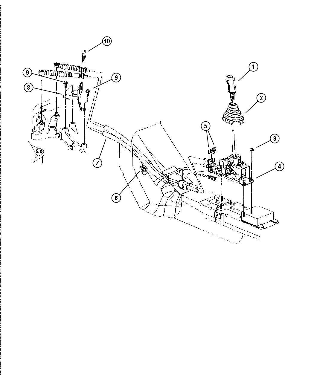 Dodge Stratus Controls, Gearshift, (DD5)