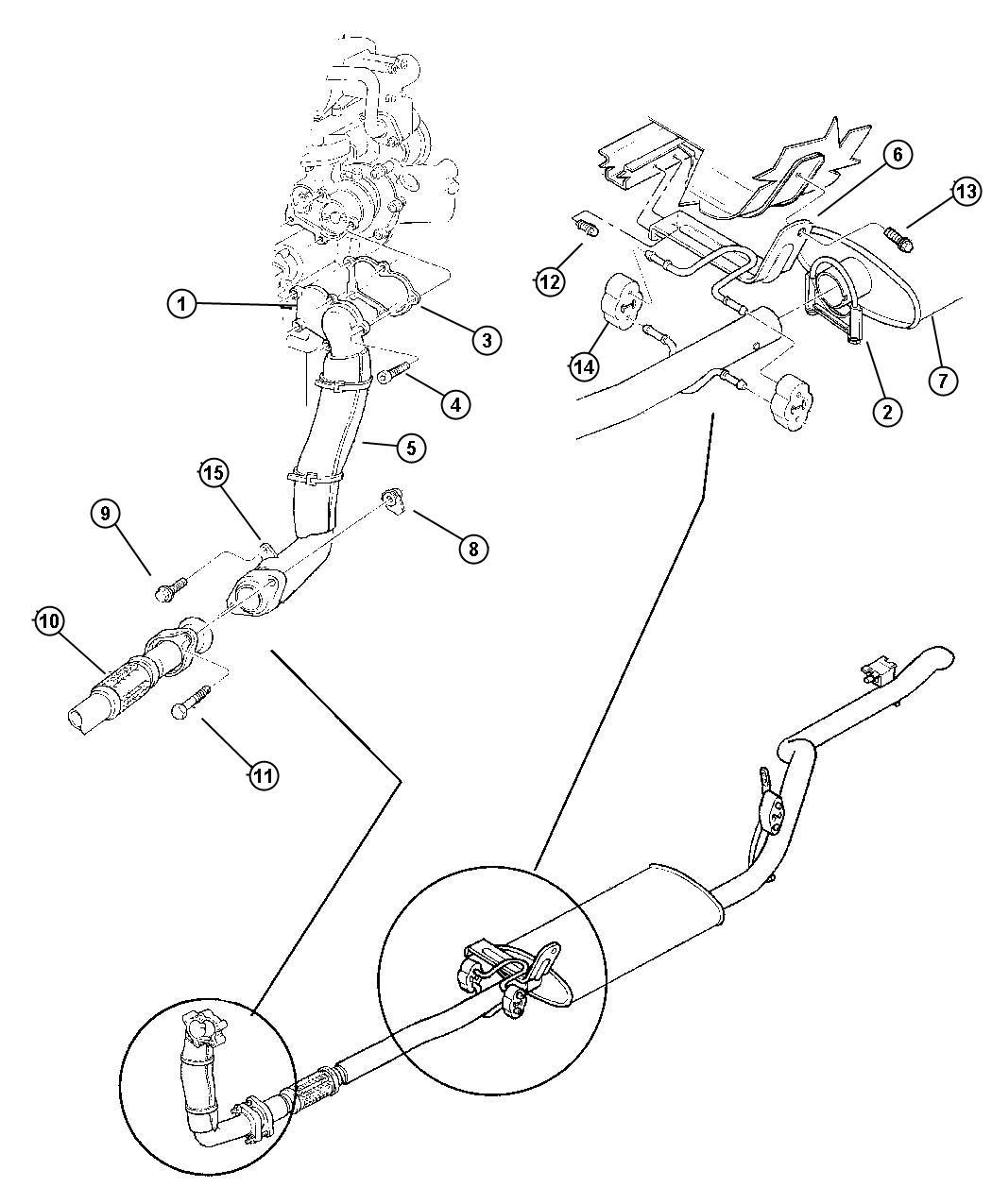 Dodge Insulator Exhaust Eight