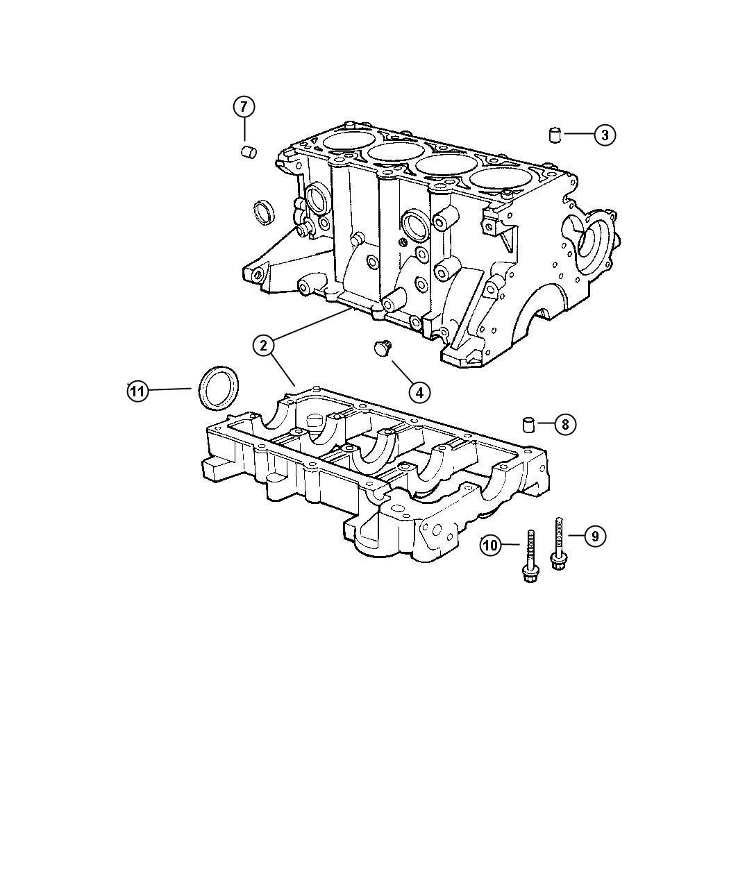 Dodge Caravan Gasket package. Engine upper. Wiperlock