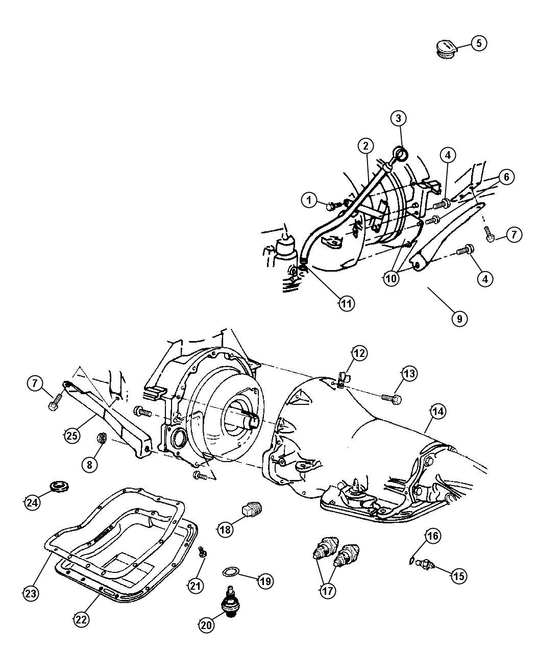 2000 Dodge Dakota QUAD CAB 4.7L V8 A/T Switch. Neutral