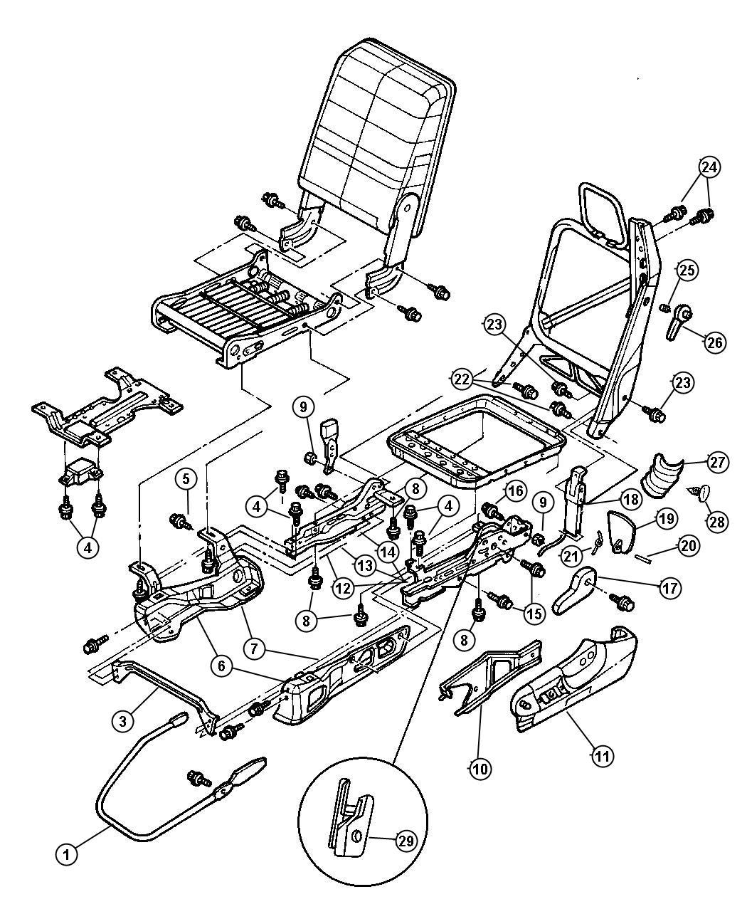 1998 Dodge Ram 2500 Riser. Seat. Driver, outboard
