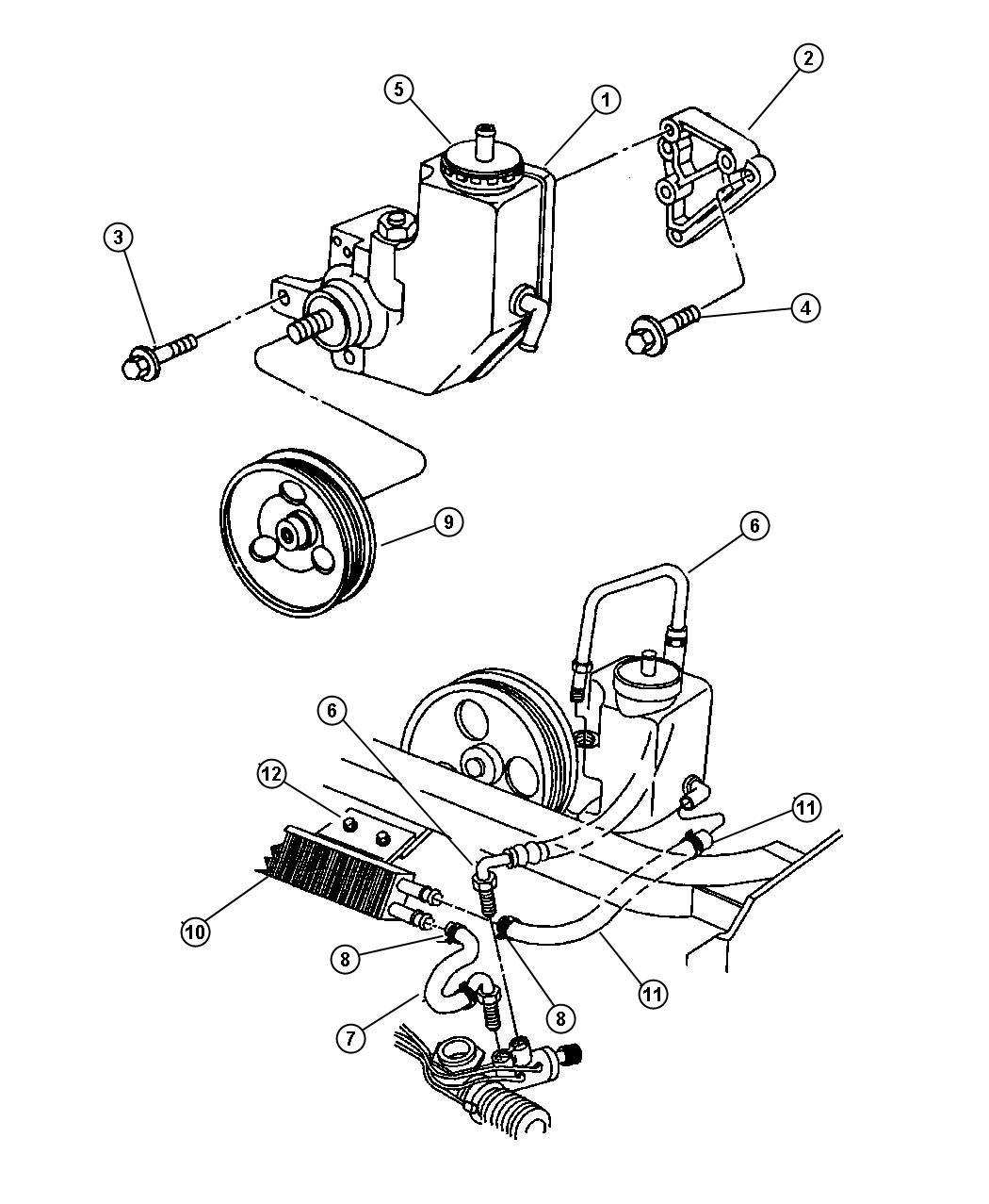 Dodge Viper Cap Power Steering Reservoir