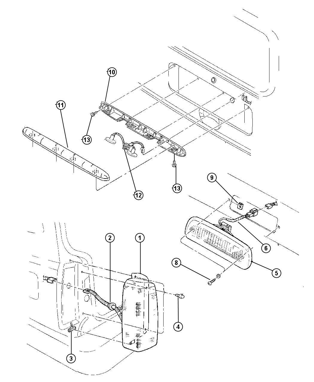 Jeep Cherokee Wiring. Taillamp. Usa/canada. Usacanada