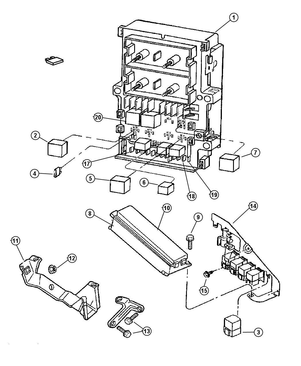 Dodge Neon Relay. Electrical, radiator fan. Realys