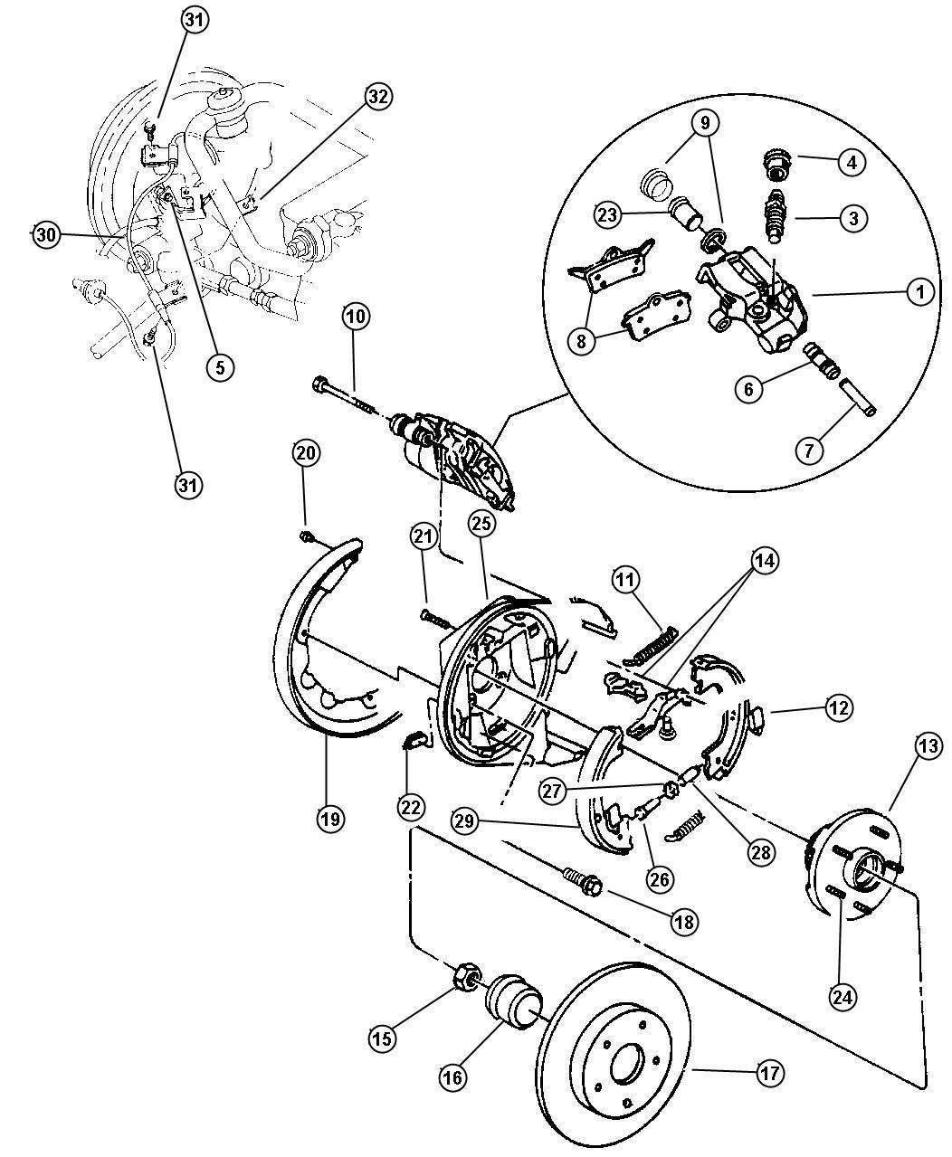 2006 Chrysler Sebring Adapter, adapter assembly. Parking