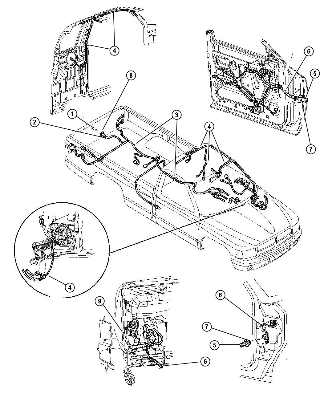 Dodge Dakota Wiring Used For Chmsl And Dome Jumper