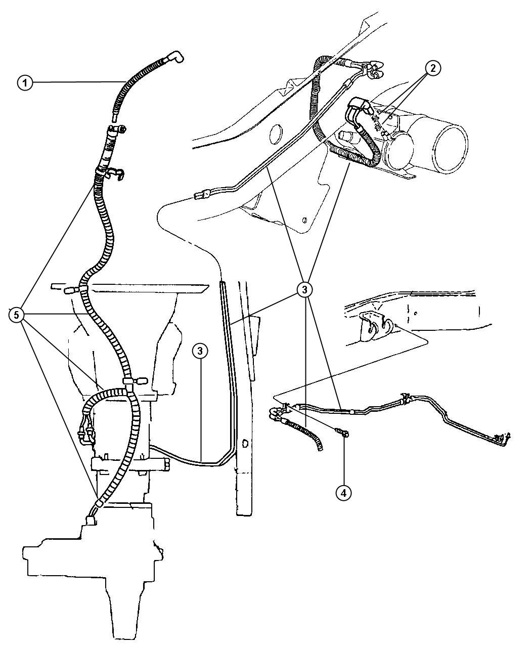 Dodge Ram Vacuum Lines Front Axle And Transfer Case