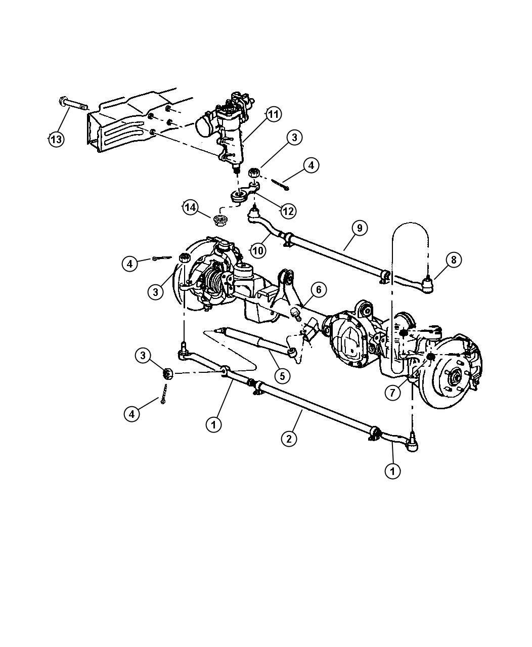 2000 Jeep Grand Cherokee Socket. Tie rod. Drag link to