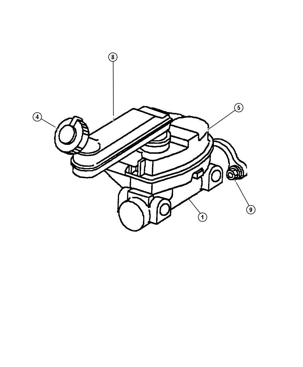 Plymouth Voyager Reservoir Brake Master Cylinder