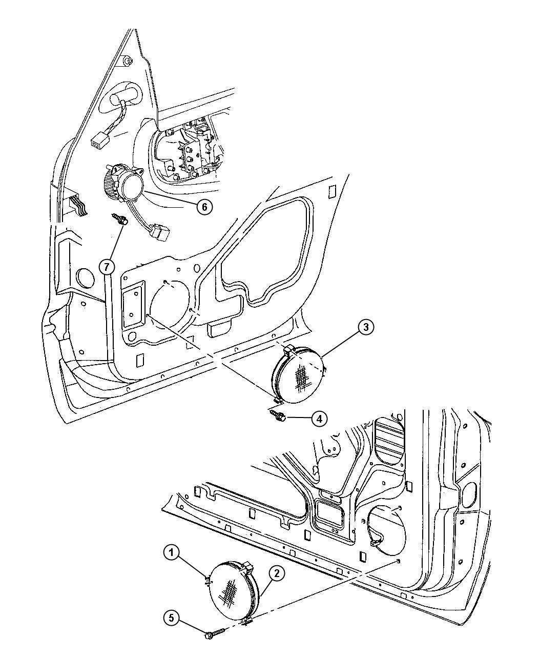 Dodge Durango Speaker. Rear. 6.5. Left. Infinity