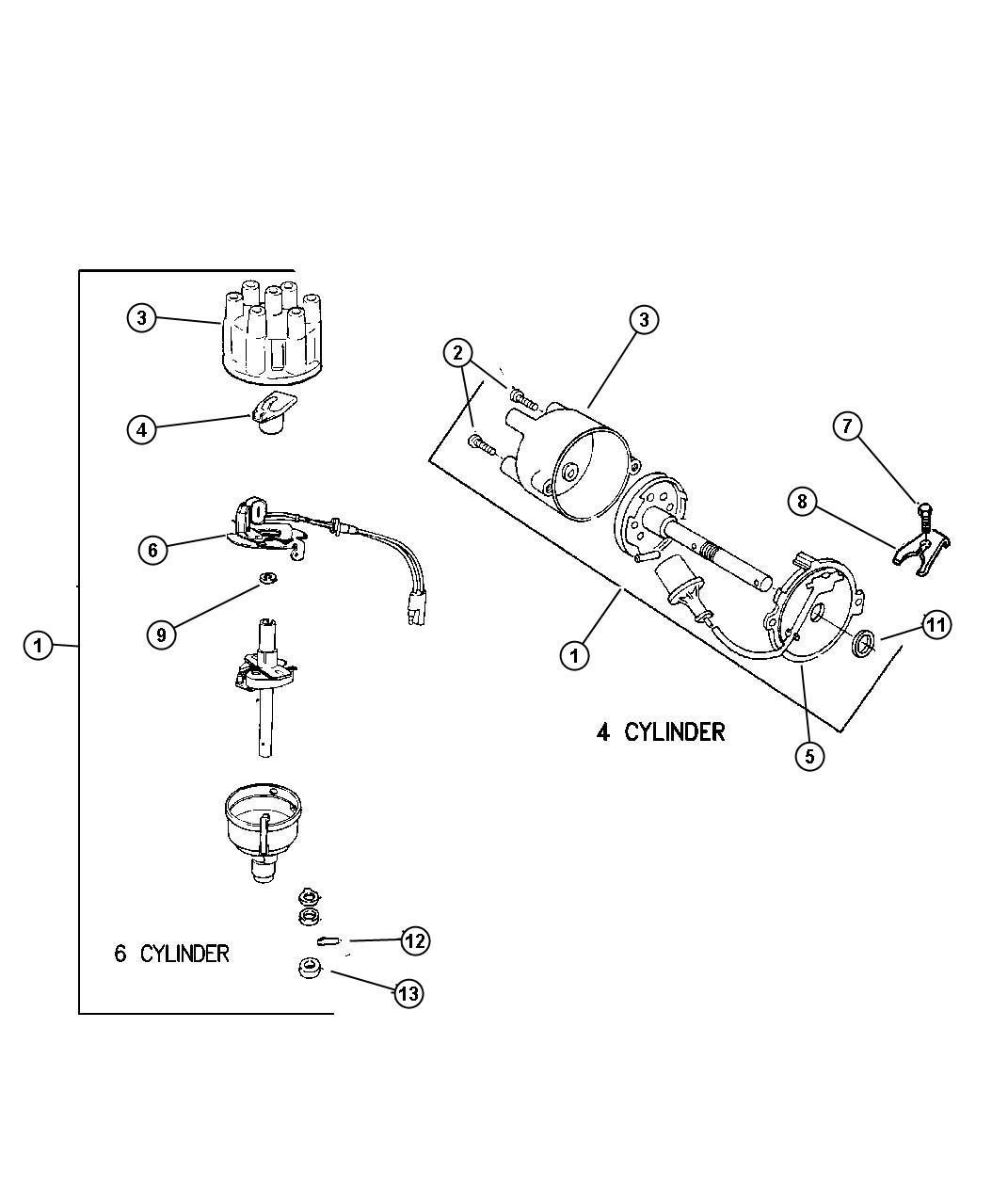 Jeep Cherokee Switchplate Distributor Pistion