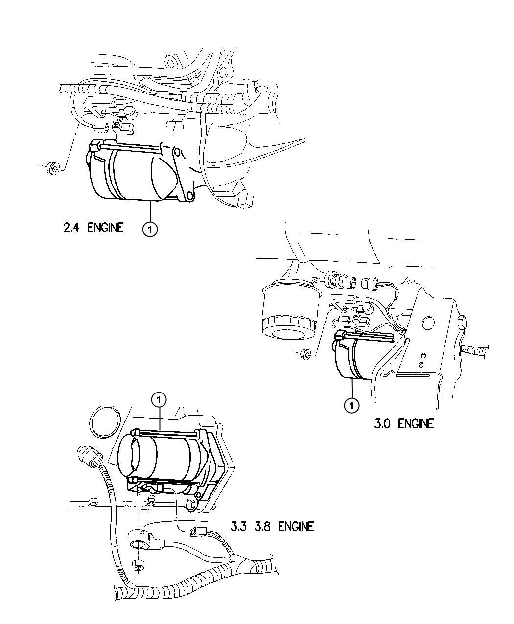 Dodge Grand Caravan Starter. Remanufactured. Engine. Nsgs