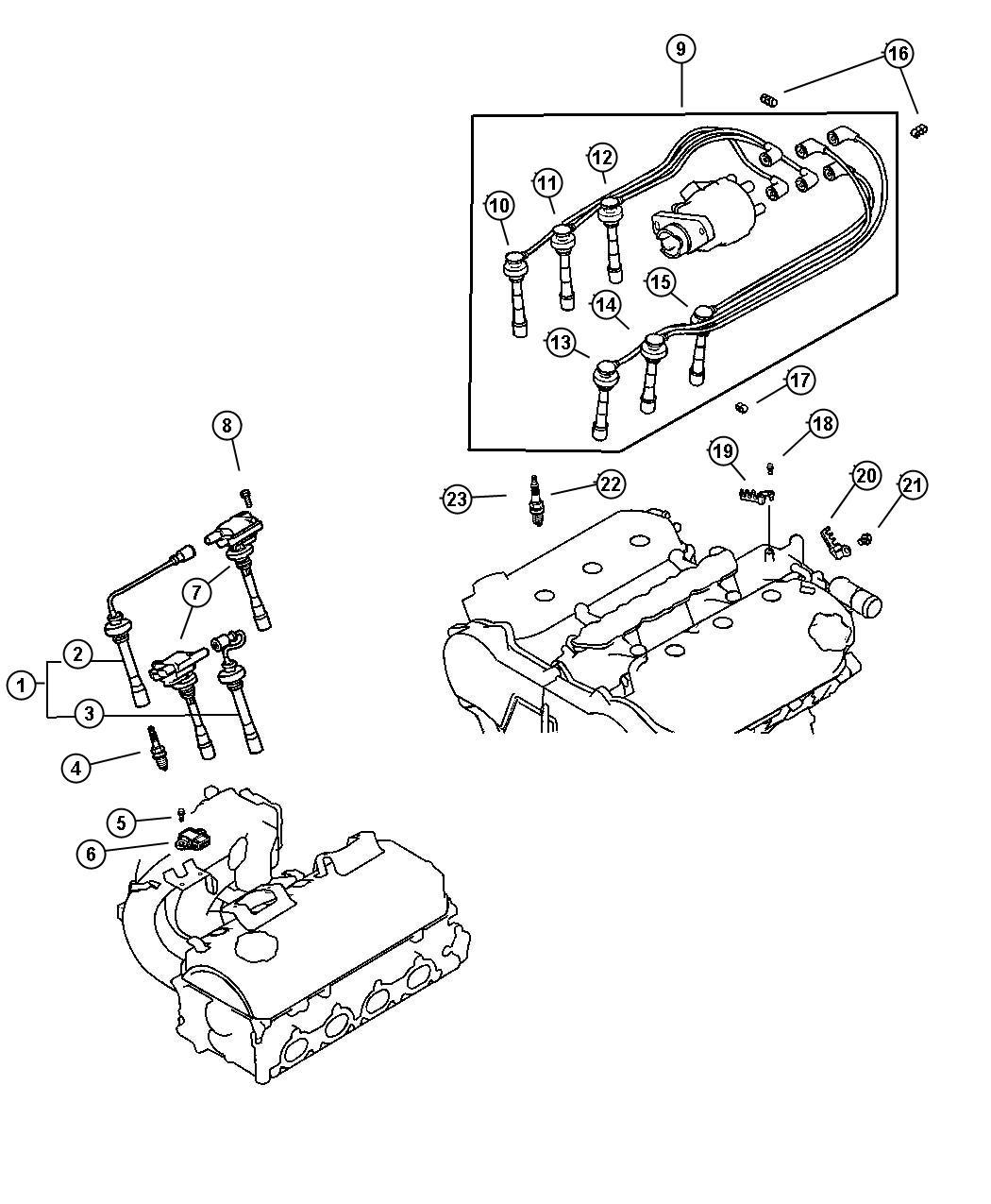 Chrysler Sebring Cable. Ignition. [#3], number 3