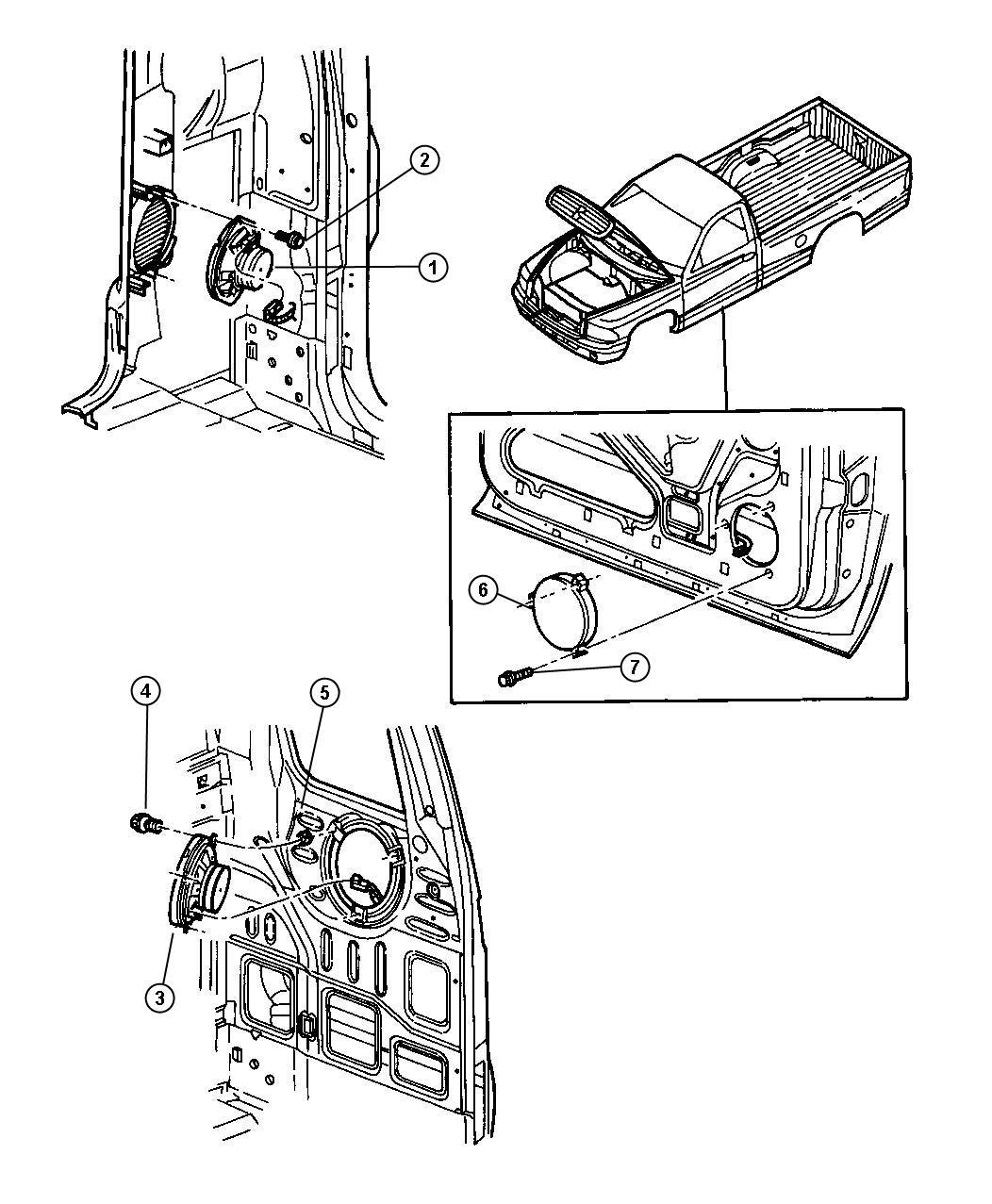1998 Dodge Dakota Speakers.