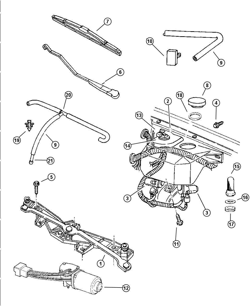 Jeep Grand Cherokee Blade Wiper W Refill W Refill Lhd