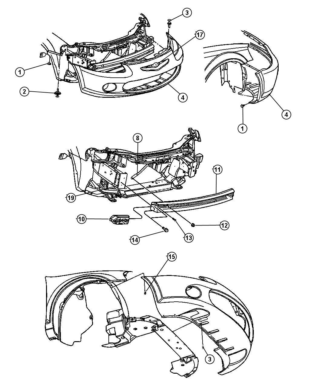2001 Chrysler Sebring Convertible LXI 2.7L V6 A/T Absorber