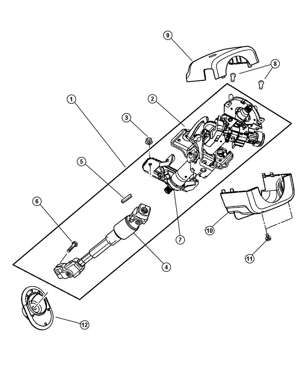 Dodge Stratus Shroud Steering Column Lower Trim All