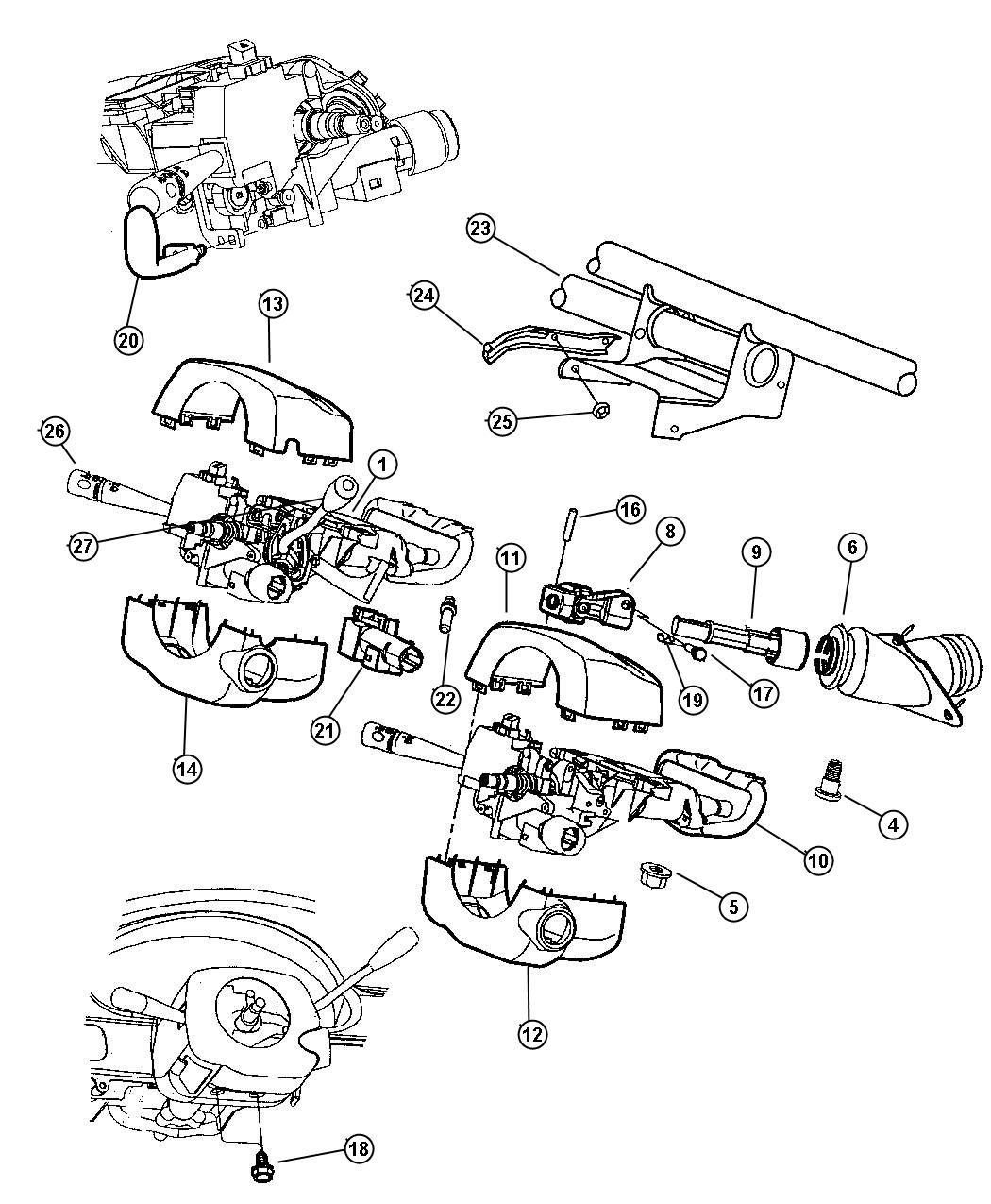 2001 Dodge Intrepid Cable. Gear selector. Column