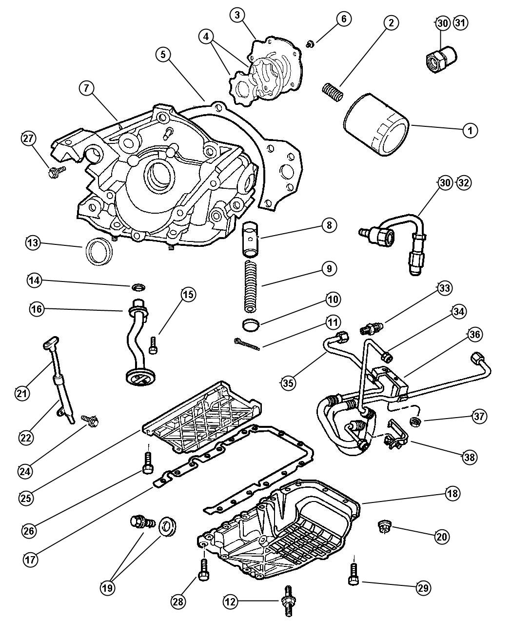 Chrysler Lhs Engine Oiling 3 5l Engine