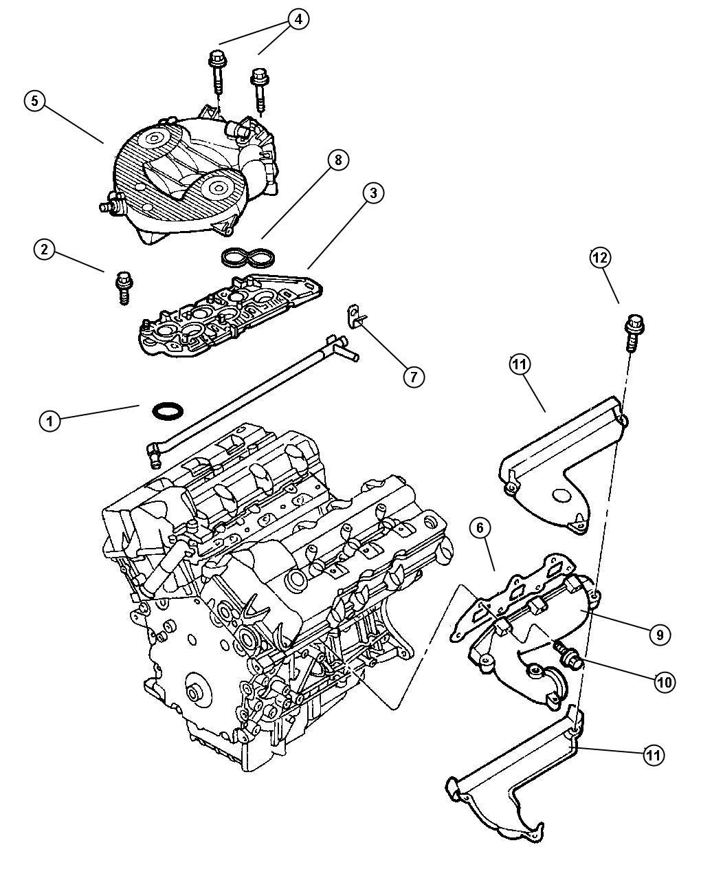 Chrysler Concorde Gasket. Intake manifold. Lower, mounting
