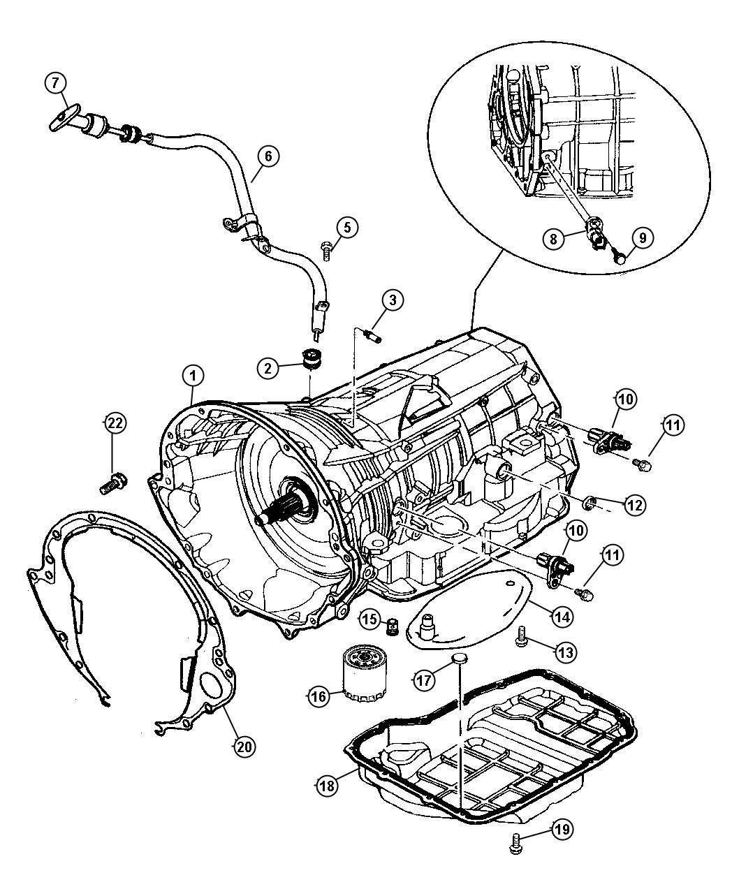 Jeep Grand Cherokee Transducer. Pressure sensor. 52119098