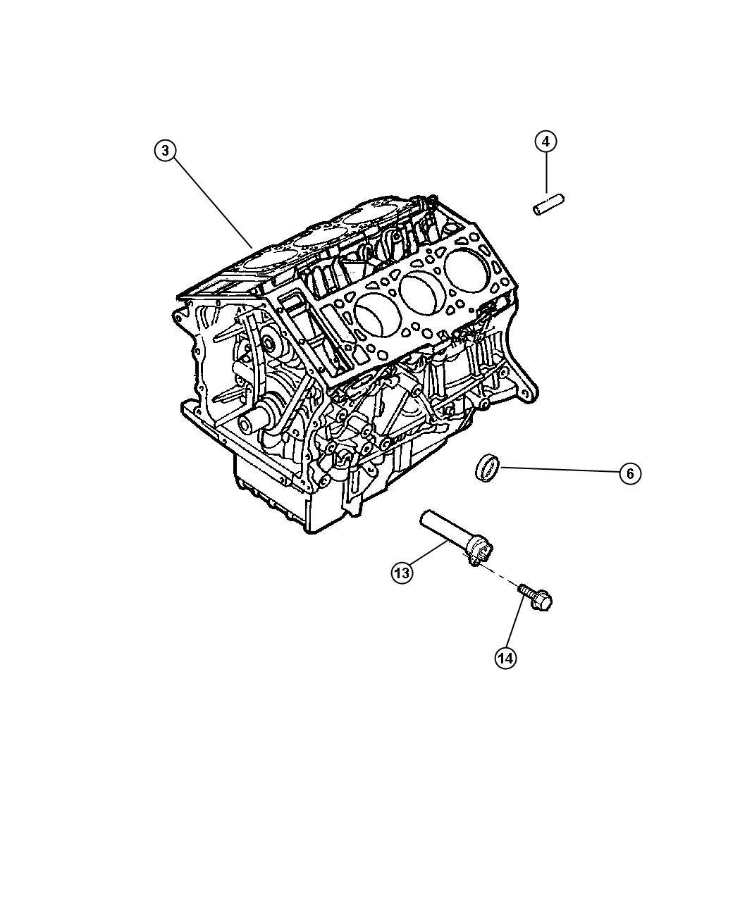 Chrysler Sebring Plug Cup Cylinder Block Oil Hole 50