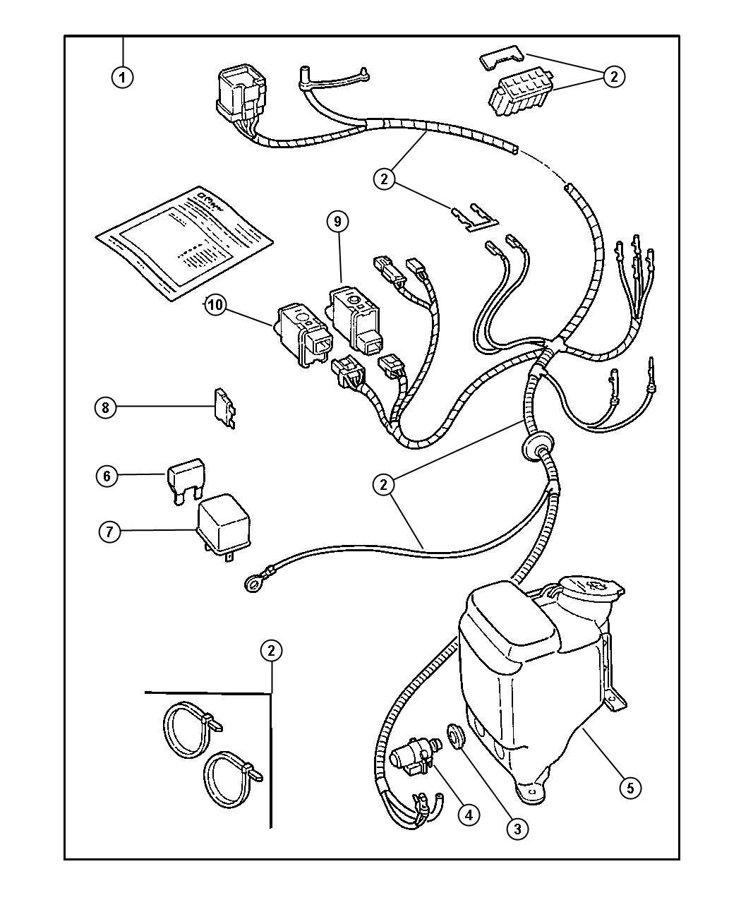 2000 Jeep Wrangler Hardtop Wiring Kit.