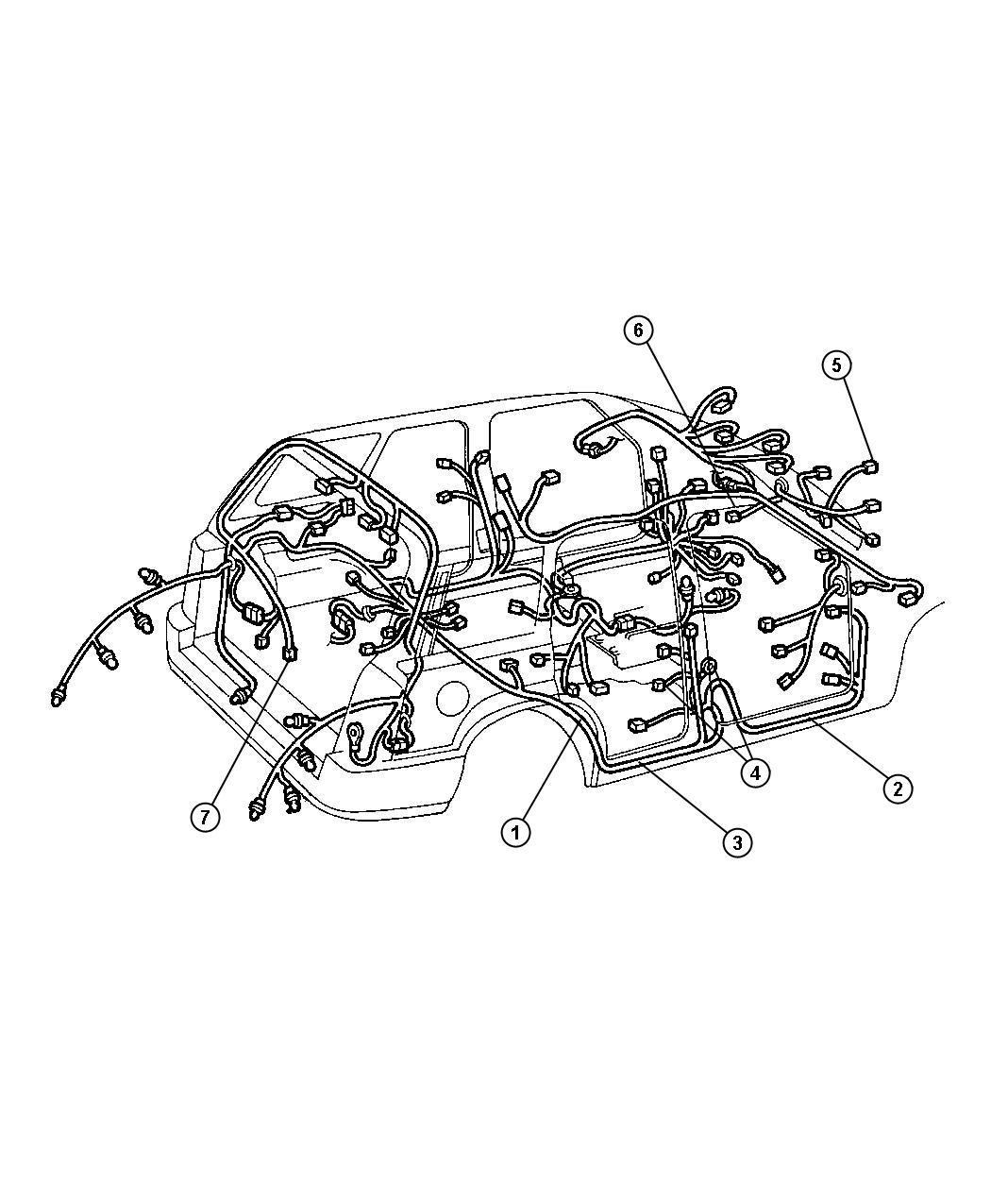 Jeep Grand Cherokee Wiring Body Right