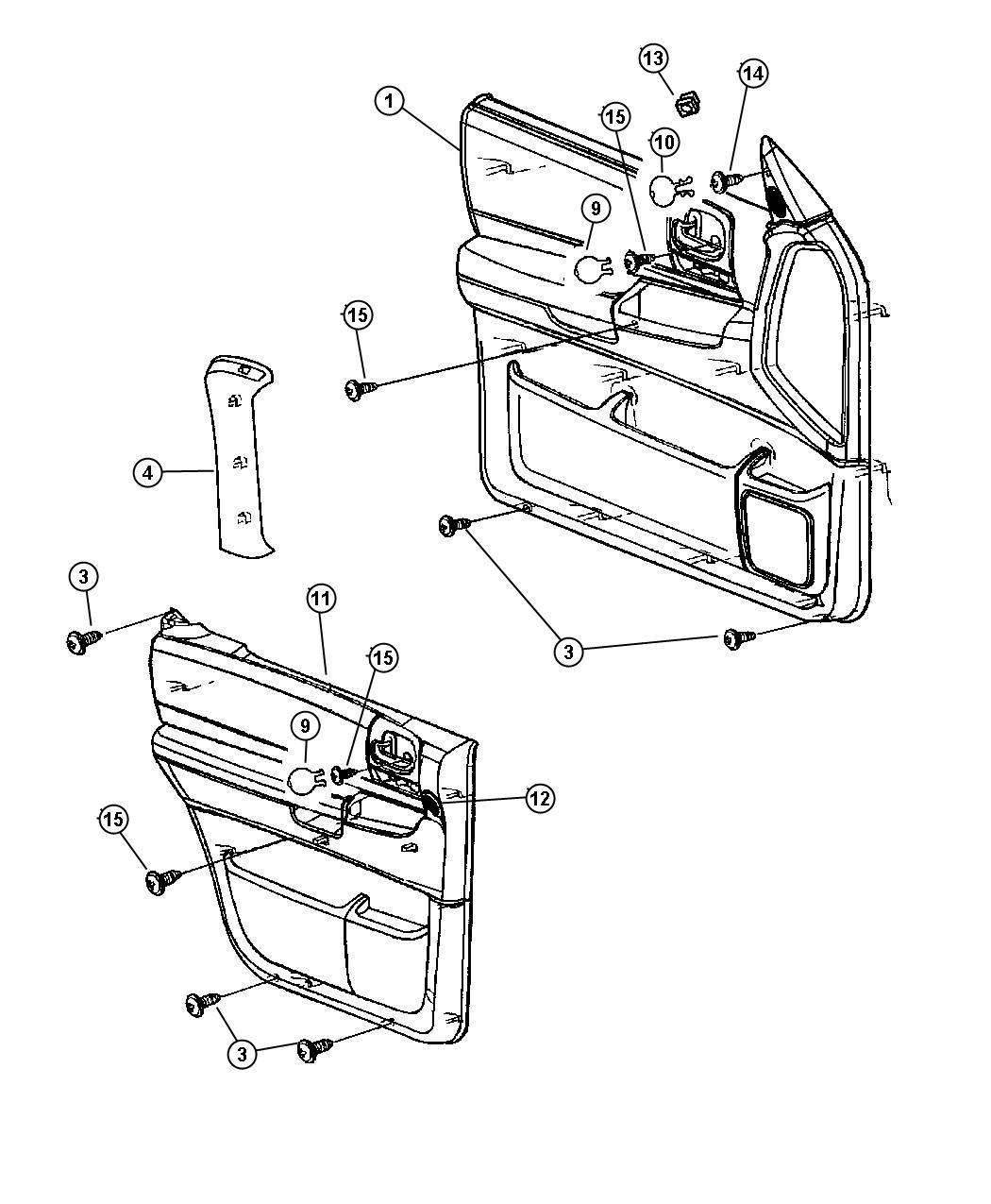 Dodge Durango Clip. Door lever to link. Right. Trim: [seat