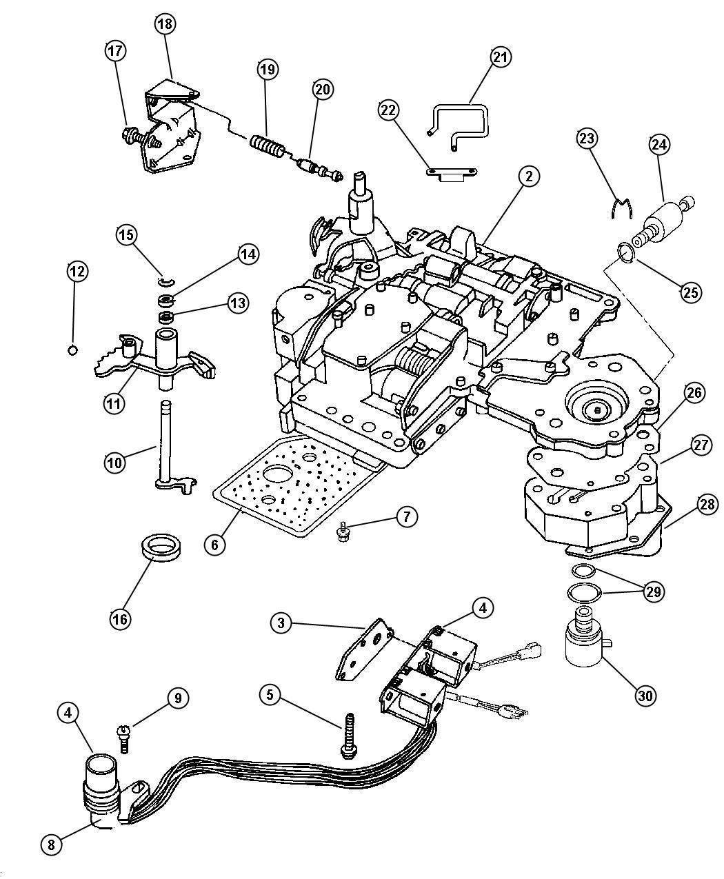 Jeep Patriot Lever Valve Body Assembly Manual Valve